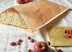 Úžitkový textil - Voskované vrecko na chlieb•Bodkáč - 11147300_