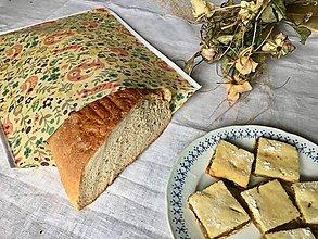 Úžitkový textil - Voskované vrecko na chlieb•Líška - 11147314_