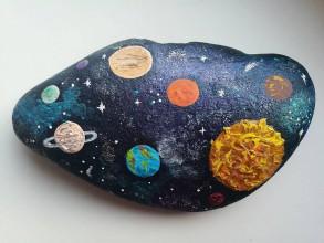 """Hračky - Maľovaný kameň """"Galaxia"""" - 11146905_"""