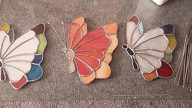 Dekorácie - Motýliky - 11148154_