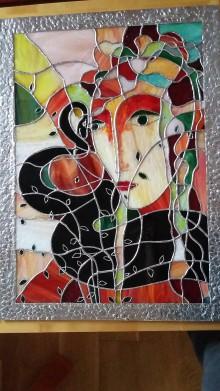 Dekorácie - obraz Eva a jablko - 11148179_