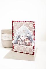 Papiernictvo - Vianočná pohľadnica vločka - 11147944_