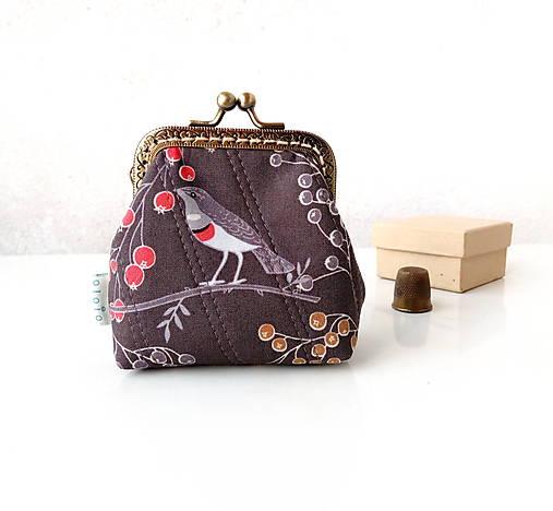 Peňaženka Vtáčiky a bobuľky - M