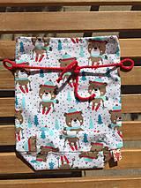 Úžitkový textil - mlkulašske vrecúško s červenou šnurkou - 11148284_