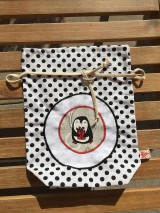 Úžitkový textil - mikulášske vrecúško s aplikáciou - 11148312_