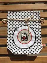 Úžitkový textil - mikulášske vrecúško s aplikáciou - 11148314_