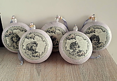 Dekorácie - vianočné vintage gule deti - 11145383_