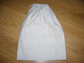 Úžitkový textil - Vrecko na chlieb ľanové - 11146756_