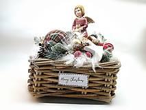 Dekorácie - Vianočný košík - 11146464_