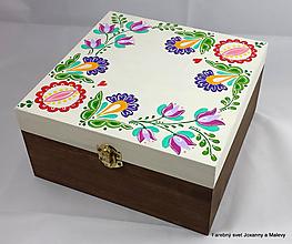 Krabičky - šperkovnica Rozkvitnutá ľudová - 11146309_