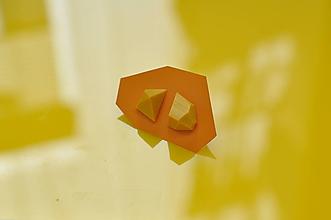 Náušnice - Geometrické náušnice | minimal arch | mustard - 11149320_