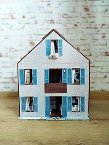 Hračky - Domček pre bábiky - zariadený - 11151651_
