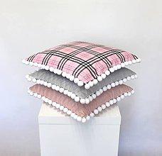 Úžitkový textil - sada obliečok na vankúše Pink+Grey (3veľkosti) - 11152810_