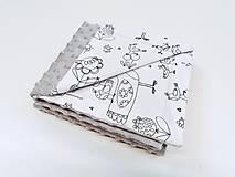 Textil - Minky sivá deka s vtáčikmi Birds 70*100cm - 11151223_