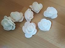 Polotovary - Penové ružičky 3,5 cm - 11150406_
