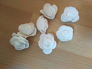Polotovary - Penové ružičky 3,5 cm - 11150405_
