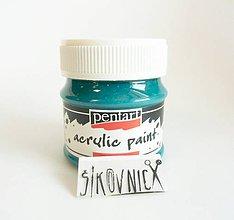 Farby-laky - Akrylová farba, matná, 50 ml, Pentart (tyrkysová modrá) - 11148801_