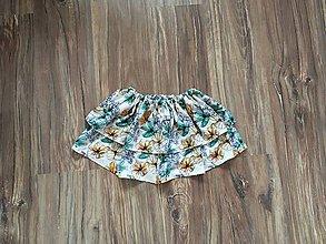 Detské oblečenie - Sukňa Kvety - 11150201_