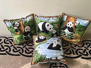 Úžitkový textil - Set vankúšov Panda - 11150284_