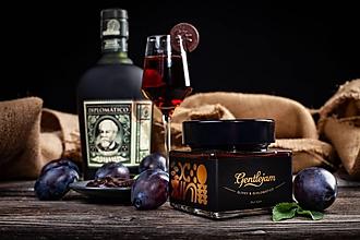 Potraviny - Pomätená slivka- Slivkový džem s kakaom, mätou a Diplomático rumom - 11149983_
