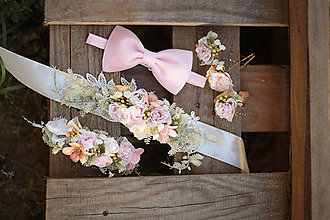 Doplnky - Luxusný zamatový motýlik - ružový - 11148690_