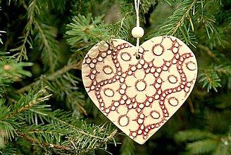 Dekorácie - Vianočné srdiečka. - 11152327_