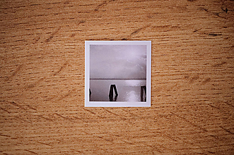 Papiernictvo - Fotonálepka - Jazero - na zápisník DENNÉ ZÁPISKY - 11151264_
