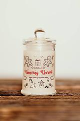 Svietidlá a sviečky - Sviečka zo sójového vosku v skle - Vianočný Darček 125g/30hod (sviečka) - 11150871_