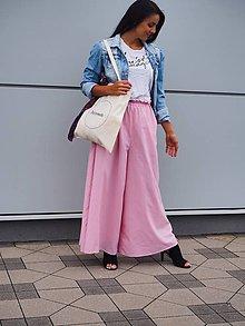 Nohavice - Ružové CULOTTE nohavice - 11151420_