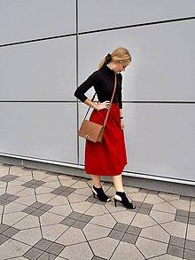 Sukne - Prerobená červená sukňa - 11151978_