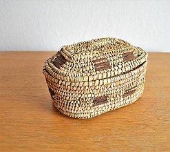 Krabičky - RUSTIK Prútená šperkovnica - 11152562_