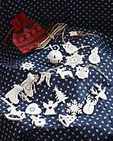 Dekorácie - Drevené vianočné ozdoby. Veľká sada. - 11151319_