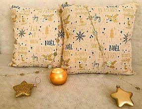 Úžitkový textil - Vianočné obliečky NOËL zlato čierny - 11148692_