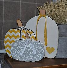 Dekorácie - Jesenné tekvičky - 11149270_