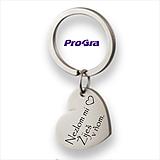 Kľúčenky - Kovový prívesok na kľúče - srdiečko + gravír - 11149714_