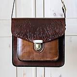 Kabelky - Floral crossbody satchel *vintage brown* - 11150723_