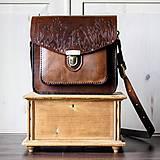 Kabelky - Floral crossbody satchel *vintage brown* - 11150771_