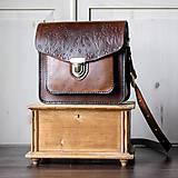 Kabelky - Floral crossbody satchel *vintage brown* - 11150792_