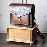 Kabelky - Floral crossbody satchel *vintage brown* - 11150795_