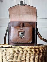Kabelky - Floral crossbody satchel *vintage brown* - 11150798_
