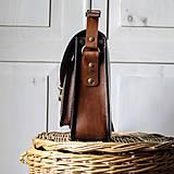 Kabelky - Floral crossbody satchel *vintage brown* - 11150799_