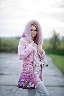 Kabáty - kabátik - Damask rose - 11151831_