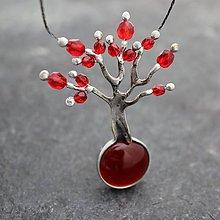 Náhrdelníky - Strom lásky - červený - 11151512_