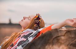 """Ozdoby do vlasov - Kvetinový polvenček """"Vo vzduchu cítiť dážď"""" - 11151951_"""