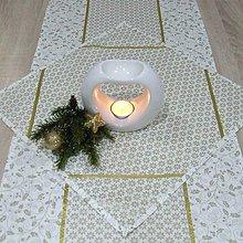 Úžitkový textil - Zlaté cezmíny a ornamenty na smotanovej (2) - štvorcový obrúsok 40x40 - 11148507_