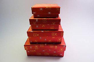 Obalový materiál - Vianočné darčekové balenie na mieru krabička - 11151635_
