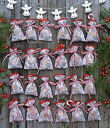 Dekorácie - Adventné vrecúška / adventný kalendár - anjeli - 11148673_