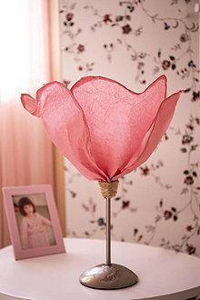 Svietidlá a sviečky - Ruženka- stolná lampa - 11149231_