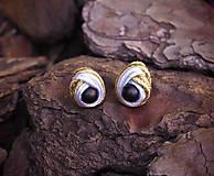 Náušnice - Šujtášové náušnice Sovie Oči - 11151565_