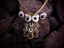 Sady šperkov - Šujtášový Sovičkový set - 11151616_